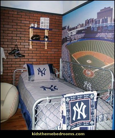 if you or your family are huge baseball fans why not create a baseball themed bedroom