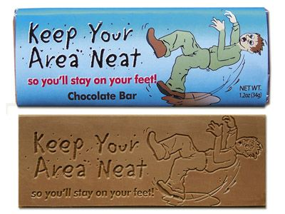 Keep your area neat - Chocolate Wrapper Bar