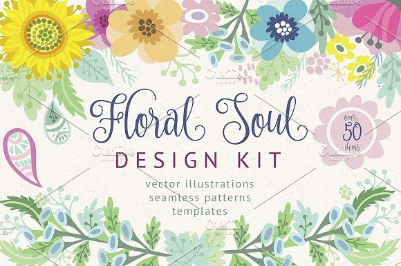 Floral soul. by marushabelle on @creativemarket