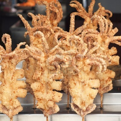 Whole deep-fried squids on sticks | Food | Pinterest | Sticks