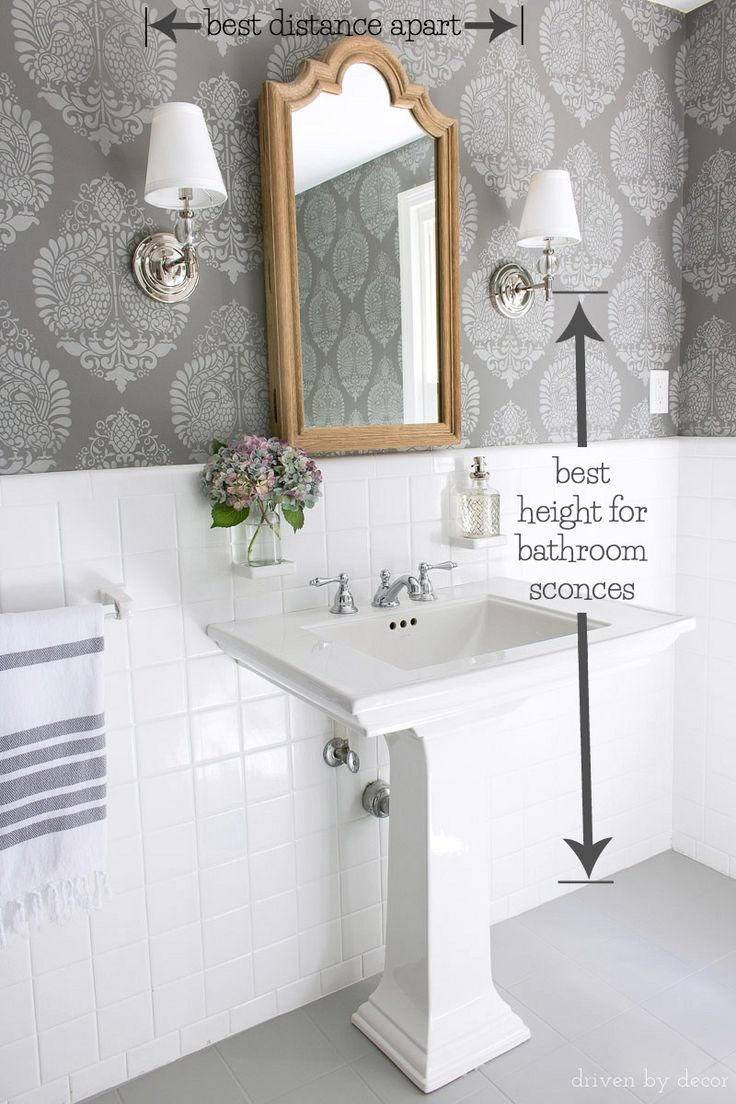 Must Have Measurements For Your Bathroom How High To Hang