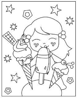 Juf Shanna Thema Zomer Kleurplaten Ice Cream Party Pinterest