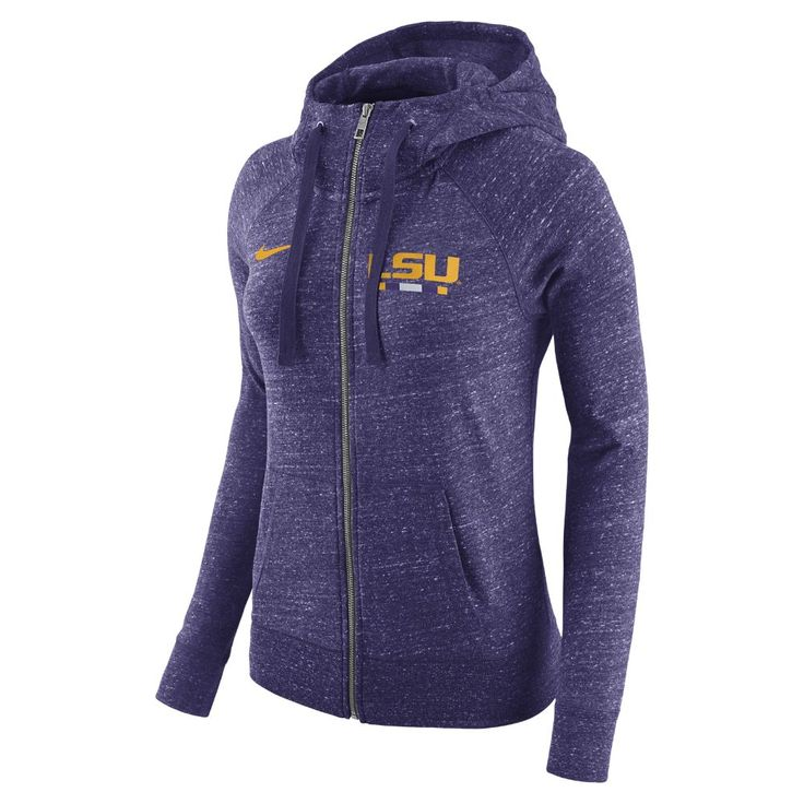 Nike College Gym Vintage (LSU) Women's Full-Zip Hoodie Size Medium (Purple)