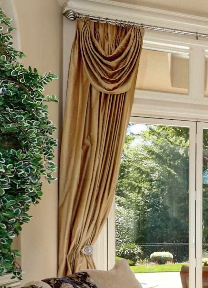 Ideas Of Custom Drapery Treatments With Attached Valances Custom Drapes Pleated Drapes Drapes Curtains