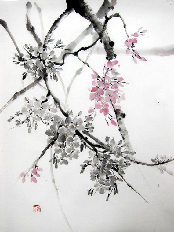 1000+ images about Sumi-e ~ Wisteria on Pinterest ...