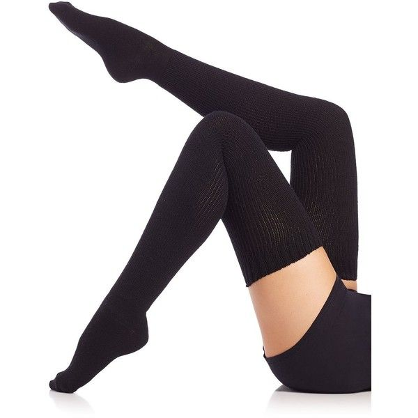Ilux Lolita Thigh-High Socks ($56) ❤ liked on Polyvore featuring intimates, hosiery, socks, apparel & accessories, black, black socks, thigh high hosiery, thigh-high socks, black thigh-high socks and black hosiery