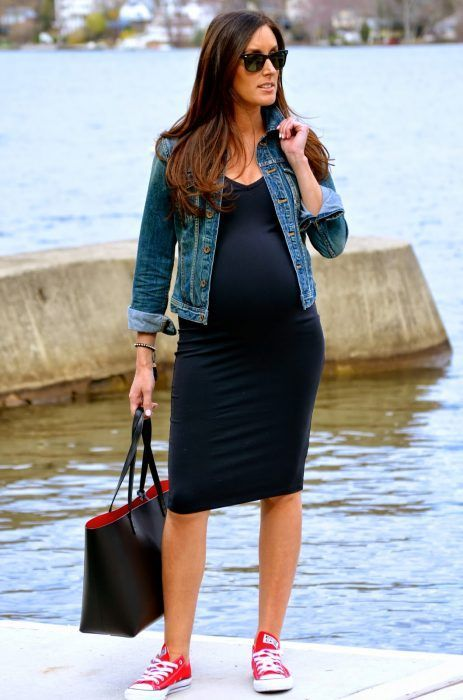Outfit vestido negro embarazada