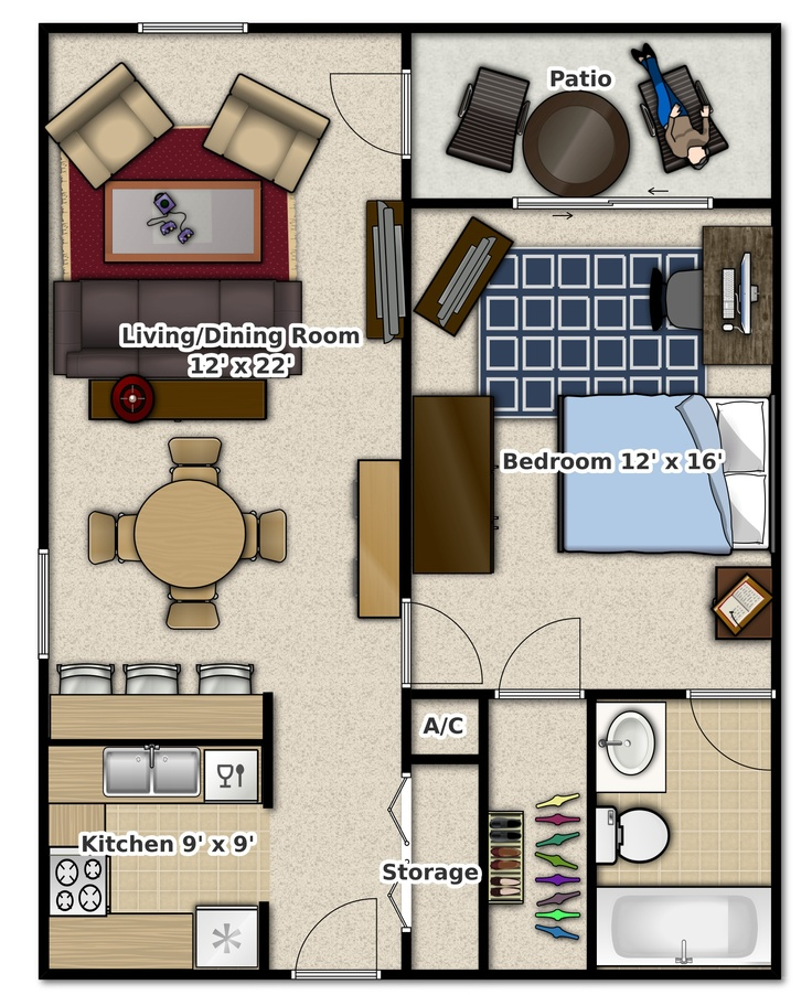 bedroom apartments appartement apartment smallhouse bedroom 1 gram s