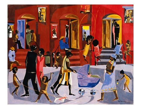 Jacob Lawrence- celebration of Harlem
