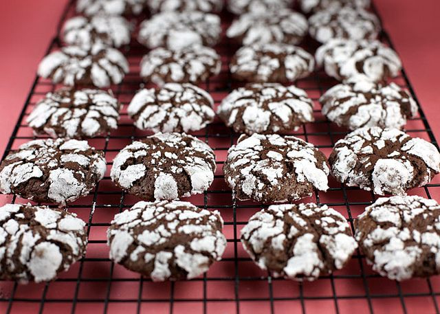 My daughter recently requested her favorite cookies, chocolate crackle cookies. Chad and I found the powdered sugar to be too sweet for us. So, I rolled some of them in a mix of cinnamon and a few shakes of cayenne pepper. It was perfect if you like spicy chocolate.