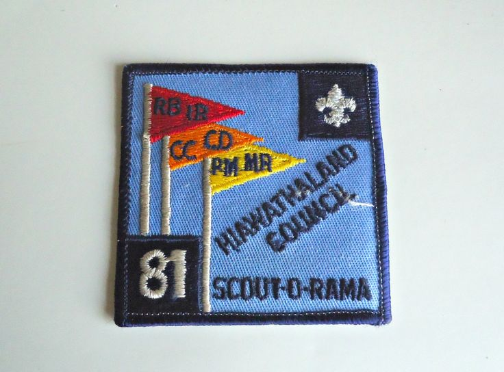 Vintage Boy Scouts Patch Hiawathaland Council Scout-O-Rama 1981 Embroidered Badge by treasurecoveally on Etsy
