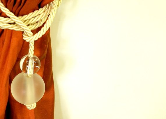 Modern Cord Tieback with Glass balls Curtain  Drapery by Eleptolis