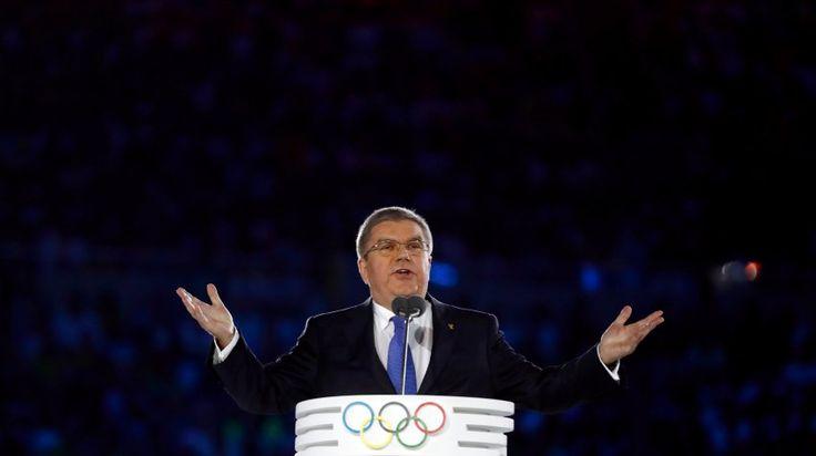 IOC-Präsident Bach beschwor die olympischen Werte, pries sie als Antwort auf...