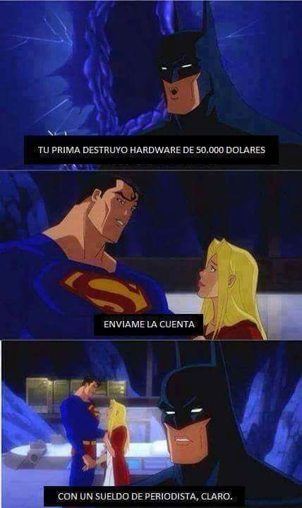 Jajaja xD  -El Caballero de Arkham #SuperHero #Batman #SuperHeroes #Marvel