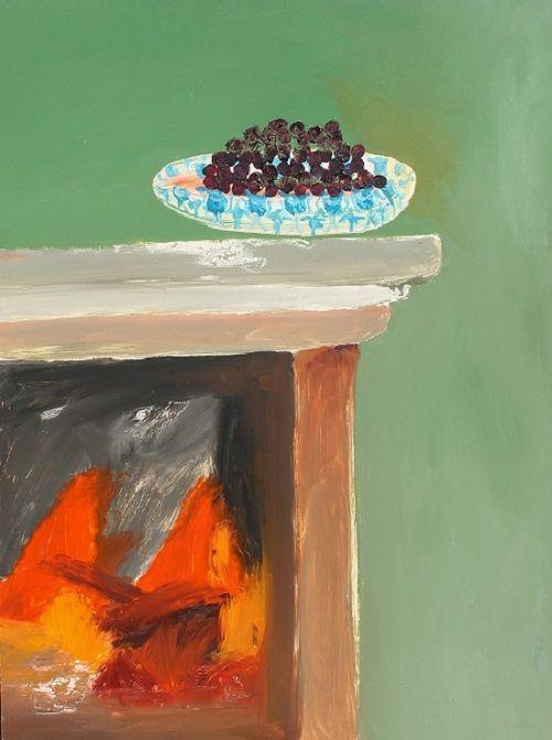Sidney Nolan: Cherries in a bowl (1978)