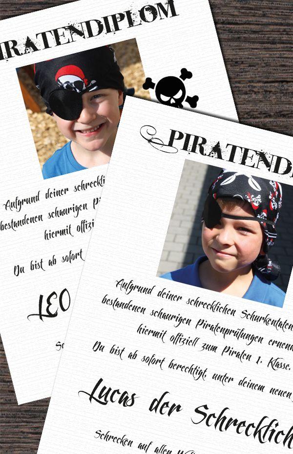 Diplom Piratenparty Mitgebsel Dankeschön www.pickposh.de