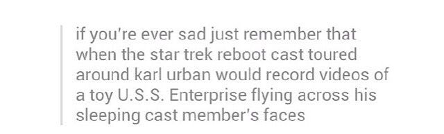 why be sad when star trek exists