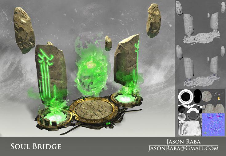 Dark Siders 2 Soul  Bridge Model, Jason Raba on ArtStation at https://www.artstation.com/artwork/dark-siders-2-soul-bridge-model
