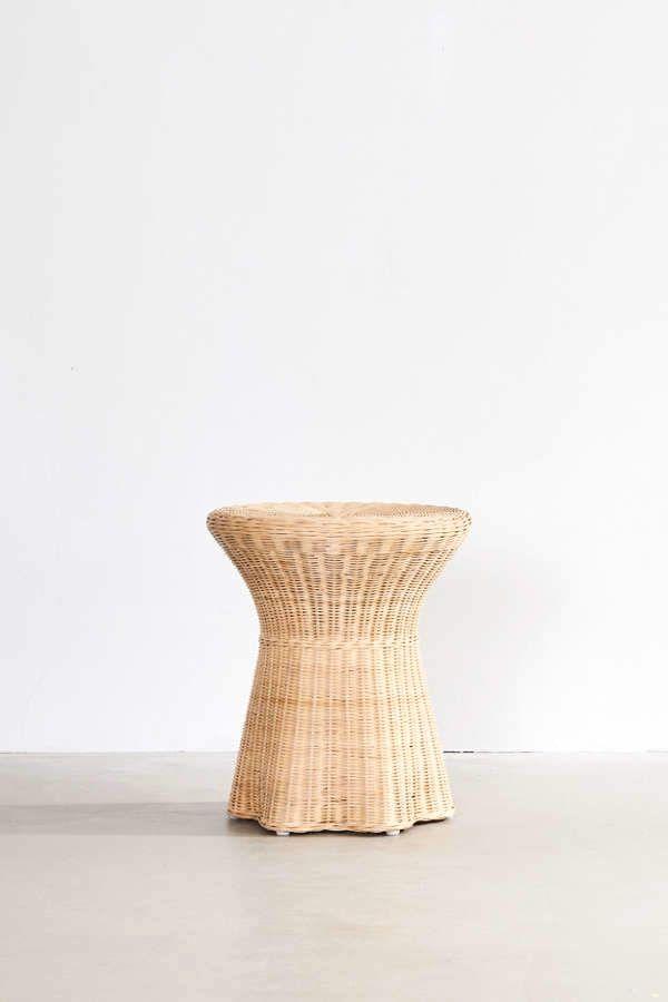 Pierce Wicker Side Table