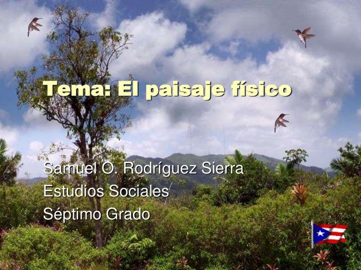 Esta presentación visual de nivel secundario muestra las principales elevaciones montañosas de Puerto Rico.
