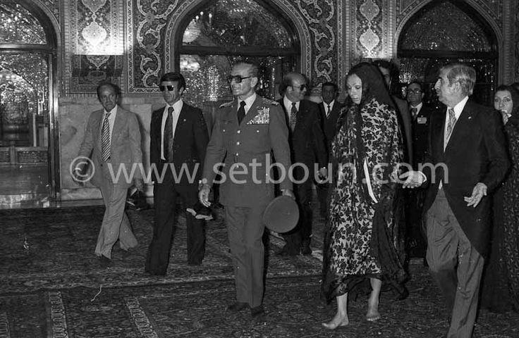 Iran - The royal family . the shah of IRAN Mohamed reza Palhavi, and farah diba. visit in The Holy Shrine of Imam Reza, Mashhad: the big MOSQUE  of Gohar  - Mashad  Iran   + | by setboun photos