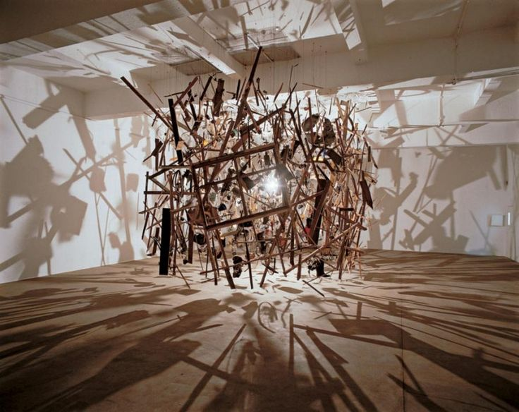"Cornelia Parker - Exploded View (1991)  ""I like to take man-made objects and push them to the point where they almost lose their reference, so they become something else, taking on other alliances."""