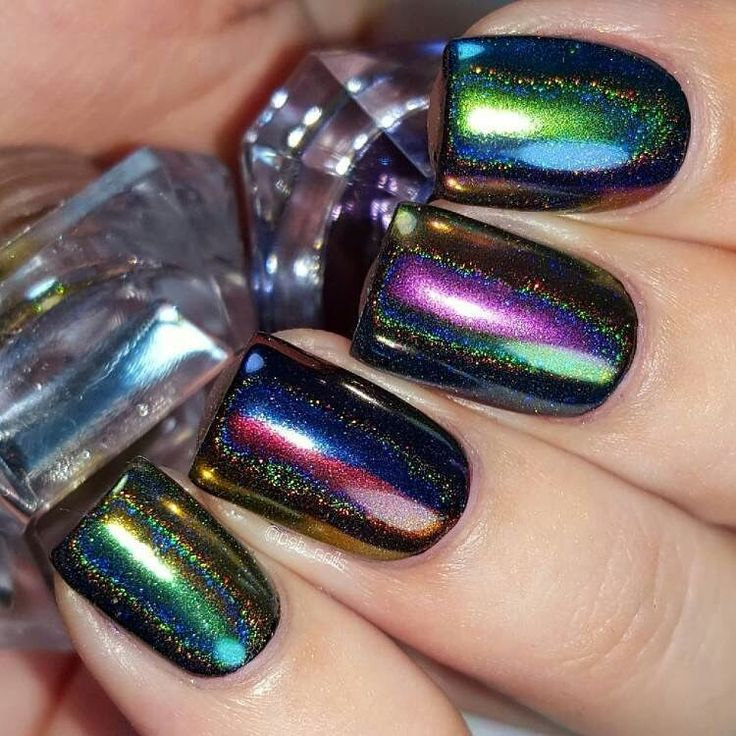 Holographic peacock powder   from bornprettystore.com  http://www.bornprettystore.com/born-pretty-peacock-holographic-chameleon-nail-powder-mirror-nail-chrome-pigment-glitters-p-40893.html