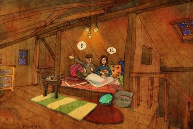 Puuung sladke ilustracie ktore vas naucia co je laska 15