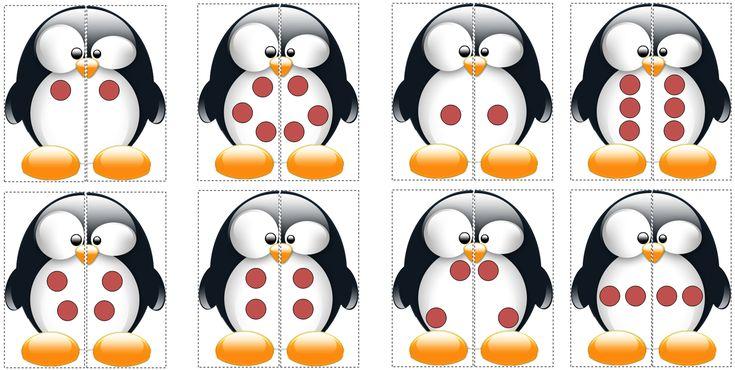 Pingouins-coccinelles: Zoek de helft die bij je kaartje past