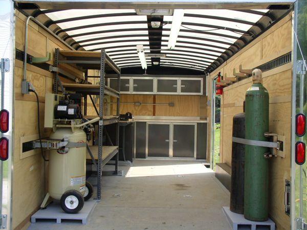 49 best cargo trailer ideas images on pinterest cargo for Rv workshop