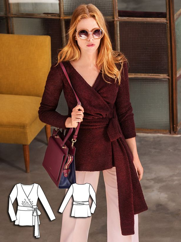 Wrap Blouse 10/2016 #115 http://www.burdastyle.com/pattern_store/patterns/wrap-blouse-102016?utm_source=burdastyle.com&utm_medium=referral&utm_campaign=bs-tta-bl-160927-TheArtofFashion115