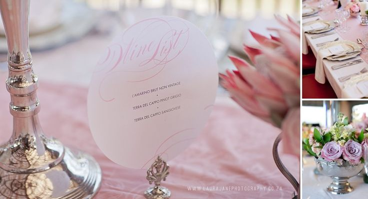 Menus by Canvas Stationery Boutique. Laura Jane Photography. Flowers  by Splendid Affairs