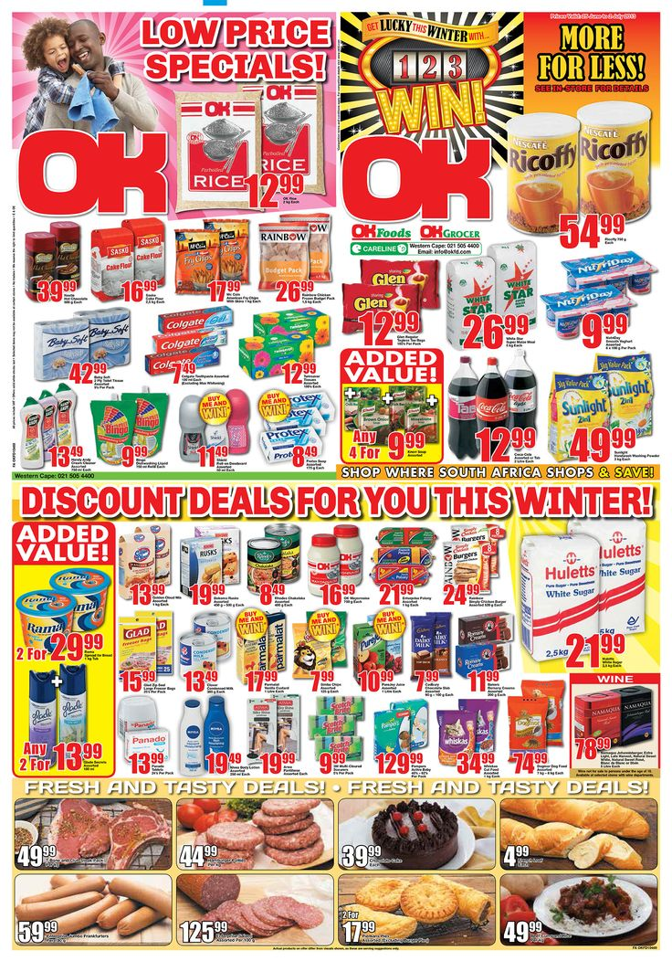 OK Grocer Danabaai amazingly low prices valid until end of June 2013