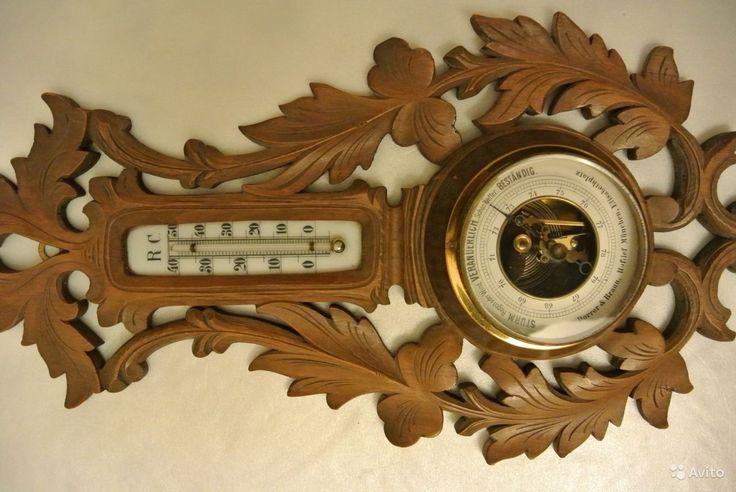 Барометр старинный, резной Германия. Бидермайер купить в Санкт-Петербурге на Avito — Объявления на сайте Avito