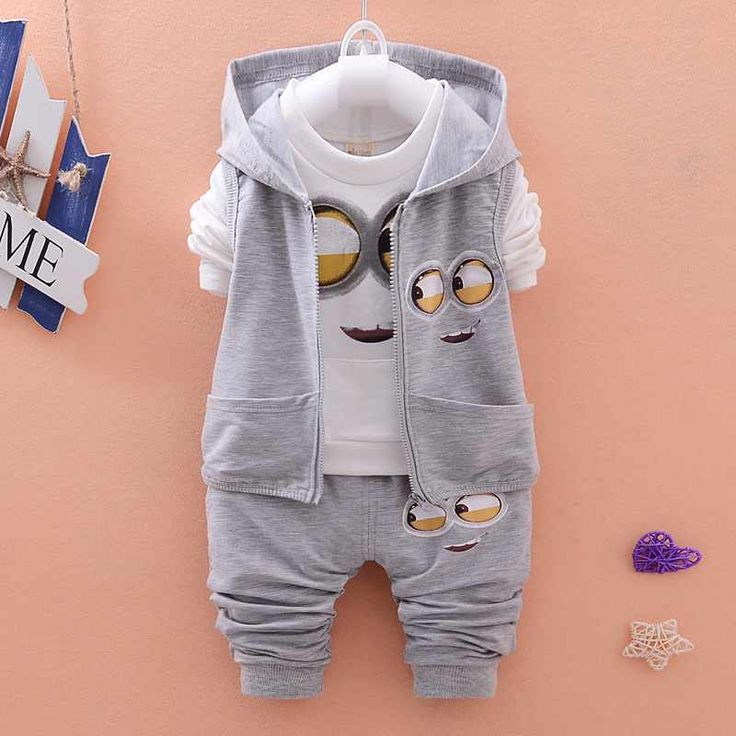 $12.98 (Buy here: https://alitems.com/g/1e8d114494ebda23ff8b16525dc3e8/?i=5&ulp=https%3A%2F%2Fwww.aliexpress.com%2Fitem%2F2016-Spring-Baby-Girls-Boys-Minion-Suits-Infant-Clothes-Sets-Kids-Vest-T-Shirt-Pants-3%2F32640569774.html ) 2016 Spring Baby Girls/Boys Minion Suits, Infant Clothes Sets Kids Vest+T Shirt+Pants 3 Pcs/sets Children Suits for just $12.98