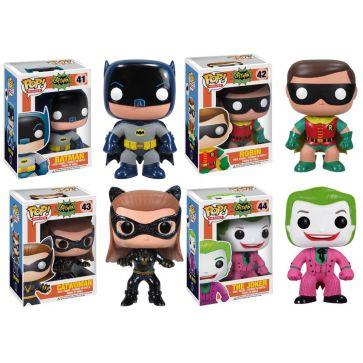 Funko Pops - Batman - 4 personagens  Você vai se divertir e colecionar estes lindos bonecos Funko Pops de seus personagens favoritos!
