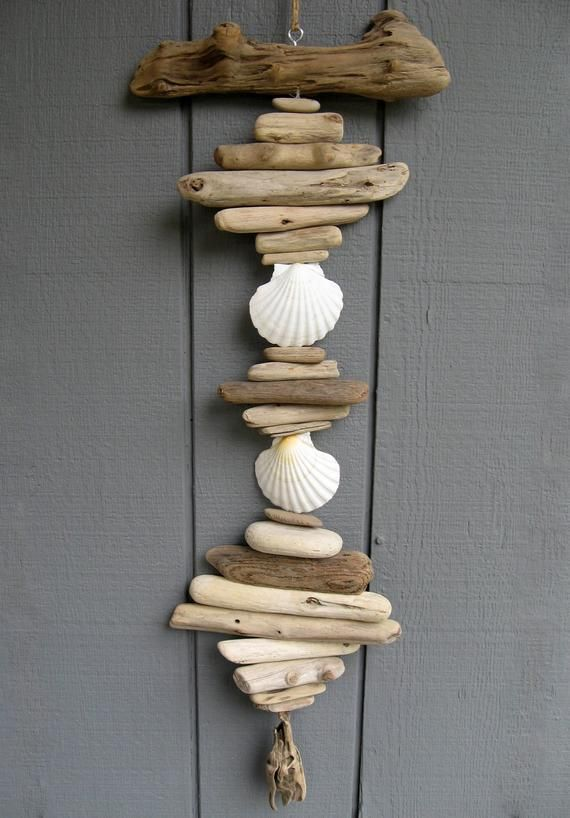 This 36 X 13 Driftwood Mobile With Its 3 1 2 White Scallop
