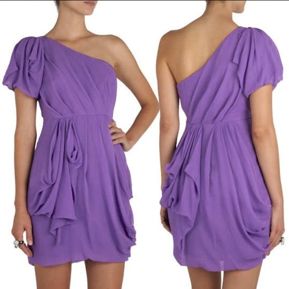 ⬇REDUCED⬇ Tibi One Shoulder Purple Cocktail Dress TIBI One Shoulder Purple Cocktail Dress. Beautiful dress perfect for weddings or cocktail events. This dress has been dry cleaned. Excellent condition. Worn only once. Size 4. Tibi Dresses