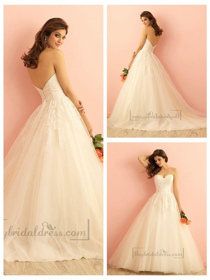 Strapless Sweetheart A-line Ball Gown Wedding Dress
