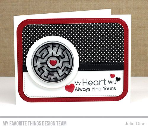 Handmade card from Julie Dinn featuring You're A-maze-ing stamp set and Circle Shaker Window & Frame Die-namics #mftstamps