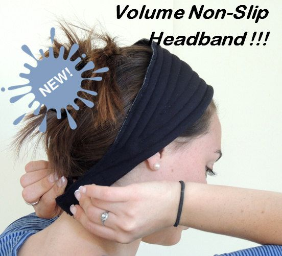 Black Volume & Non-Slip Headband Great under by SaraAttaliDesign https://www.etsy.com/il-en/shop/SaraAttaliDesign?section_id=16092530&ref=shopsection_leftnav_3