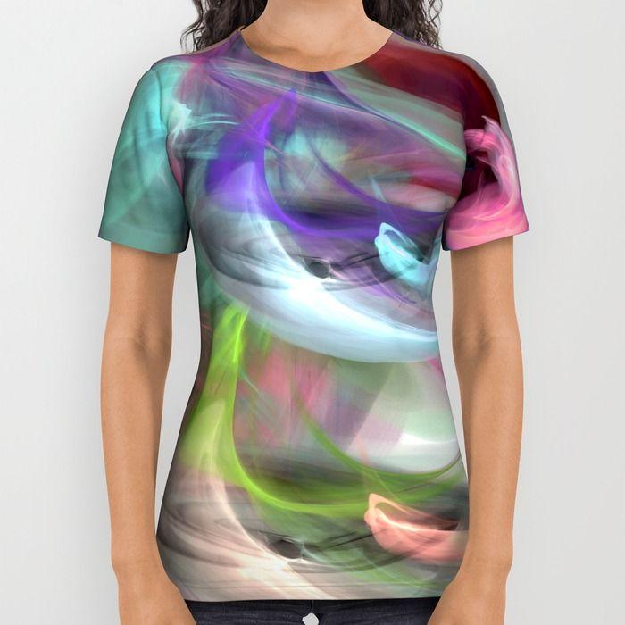 colorful smoke 1 All Over Print Shirt by Haroulita   Society6 #fashion #fashionista #fashionblogger #fashionable #tshirt #colorful