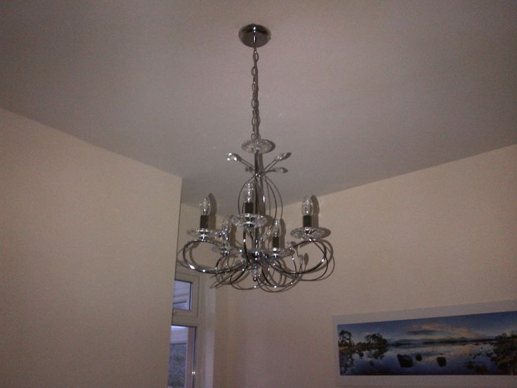 Sparkly new light in the dining room