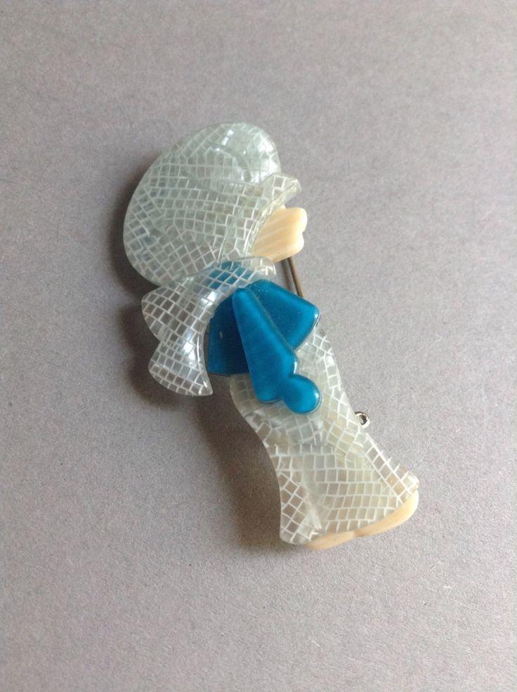 Lea Stein Celluloid Brooch Pin, Poulbot Little Boy, French designer, original, vintage brooch, 1960's, 1970's, egst, Greece by GirlyStuffByDeJaVu on Etsy