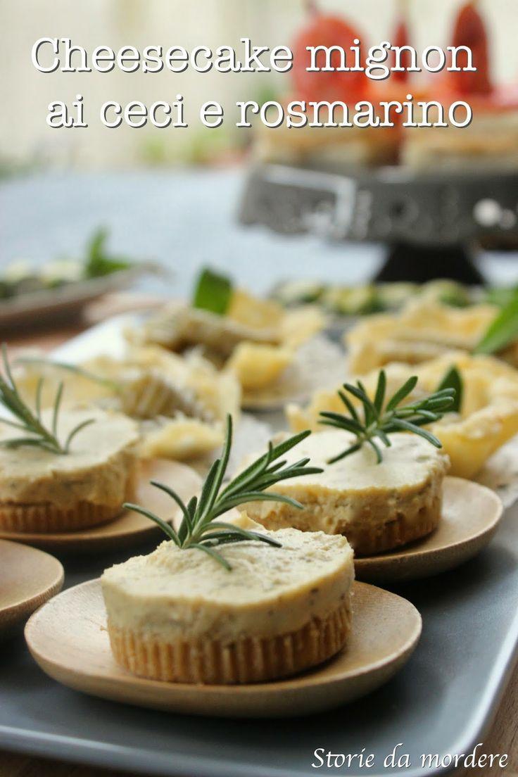 Cheesecake mignon ai ceci e rosmarino