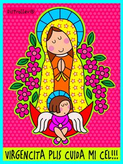 Imagenes Para MI Computadora Gratis   ... Descargar Virgencita plis cuida mi cel para celular [animacion GIF