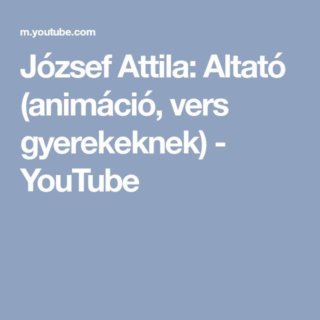 József Attila: Altató (animáció, vers gyerekeknek) - YouTube