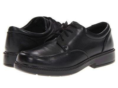 School Issue - Brooklyn (Little Kid/Big Kid) (Black Smooth) Boys Shoes