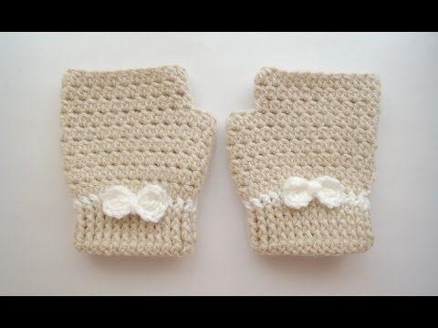 ▶ (Crochet) How To - Crochet Fingerless Mitten Gloves - YouTube