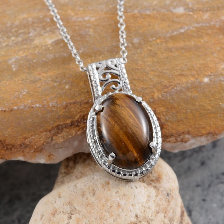 16 best tigers eye jewelry images on pinterest tiger eyes big south african tigers eye pendant in platinum overlay sterling silver nickel free with stainless mozeypictures Images